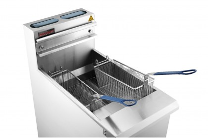 NEWWAY Commercial Gas 4 Tube Deep Fryer - NWGF