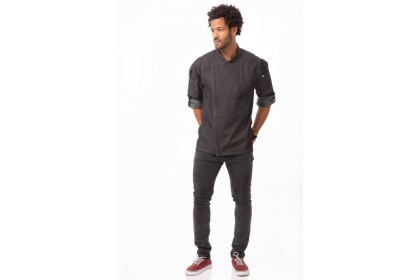 GRAMERCY CHEF COAT - BLACK - EXDZ001